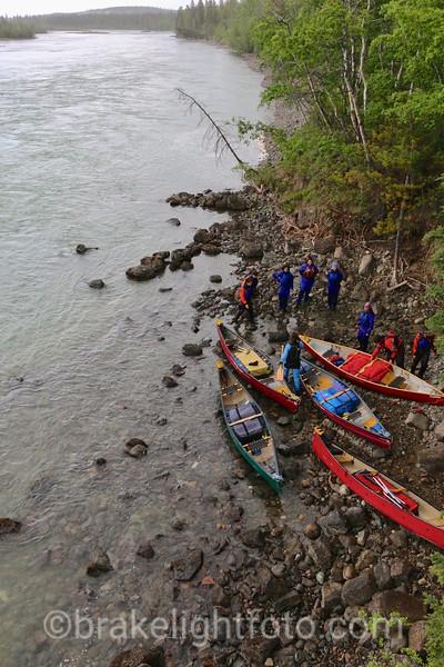 Canoeist Preparing to Depart on a Yukon River Trip