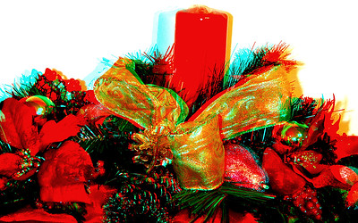Christmas Decorations in Anaglyph Stereo for Ebook