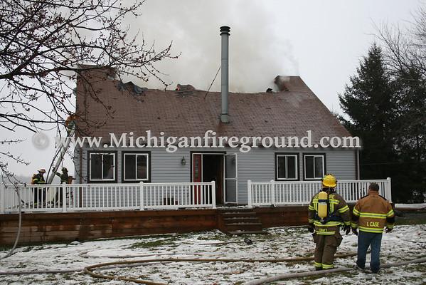 12/14/09 - Rives-Tompkins Twp house fire, 4500 Rives-Eaton Rd