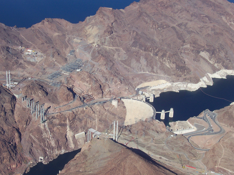 Hoover Dam, as seen flying en route to the Grand Canyon.