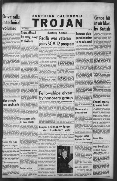 The Trojan, Vol. 35, No. 92, March 13, 1944