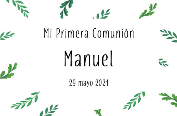 Comunión Manuel - 29 mayo 2021