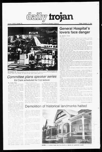 Daily Trojan, Vol. 89, No. 24, October 17, 1980