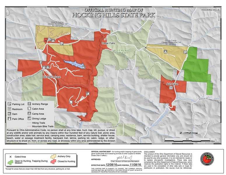 Hocking Hills State Park (Hunting Map)