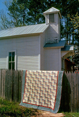 Photos of Pat's quilts and crafts