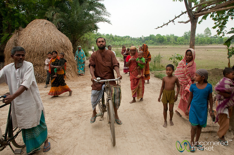 Typical Village Scene in Hatiandha, Bangladesh