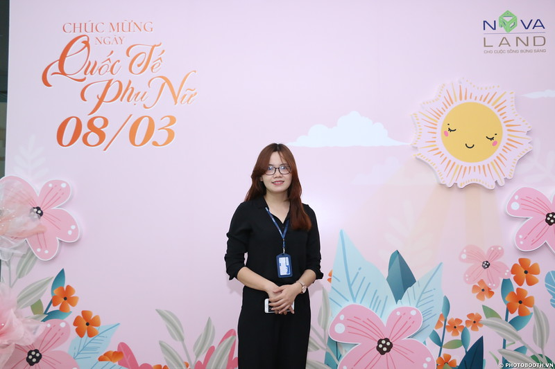 Novaland Group | Nguyen Du Office International Women's Day instant print photo booth in Ho Chi Minh City | Chụp hình lấy liền Sự kiện 8/3 | Photobooth Saigon
