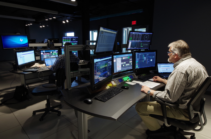 . The master control room.