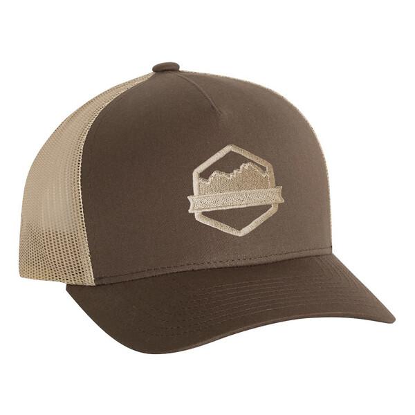 Organ Mountain Outfitters - Outdoor Apparel - Hat - Logo Five-Panel Trucker Cap - Brown Khaki.jpg