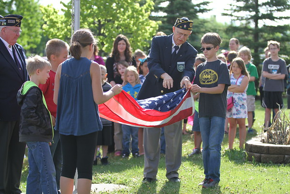 Century Elementary flag lowering 5-26-2016