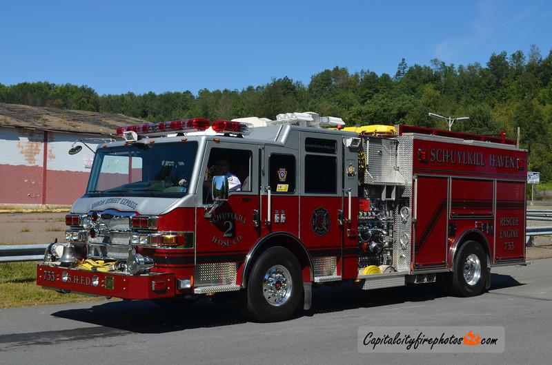 Schuylkill Haven (Schuylkill Hose Co. 2) Engine 733: 2008 Pierce Velocity 2000/1000
