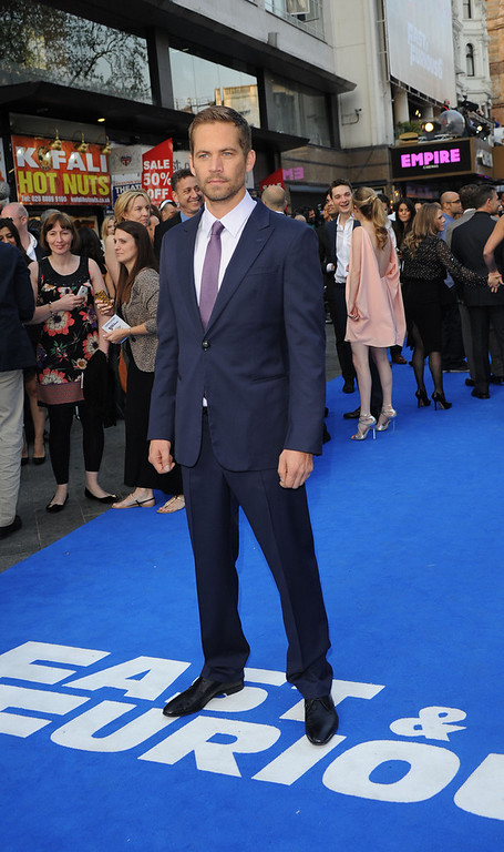 """. Actor Paul Walker attends the \""""Fast & Furious 6\"""" World Premiere at The Empire, Leicester Square on May 7, 2013 in London, England.  (Photo by Stuart C. Wilson/Getty Images for Universal Pictures)"""