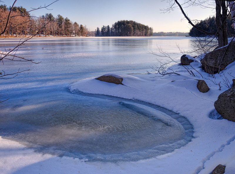 Winter on Wilson Lake, Wilton, Maine (88143-88144)