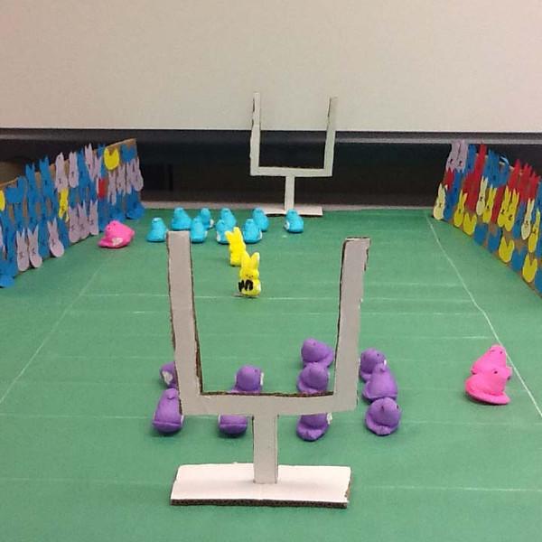 ". \""Green Bay Peepers vs. the Minnesota Vikings,\"" by Jennifer R. at Osceola High School in Wisconsin"