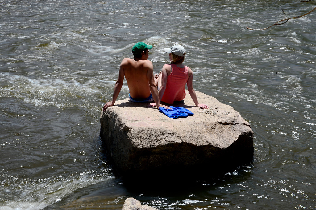 . Spectators take in the action during Golden Games at the Clear Creek Whitewater Park. (Photo by AAron Ontiveroz/The Denver Post)