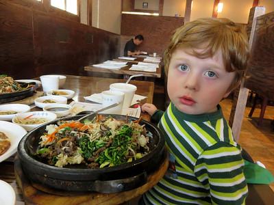 2014-11-14 Bibimbap, visiting Gigi, Polish food