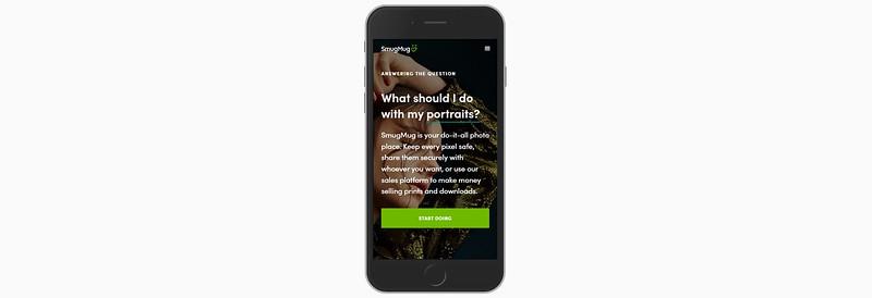 SmugMug Mobile Screenshot