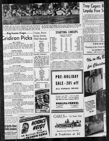Daily Trojan, Vol. 34, No. 58, December 11, 1942