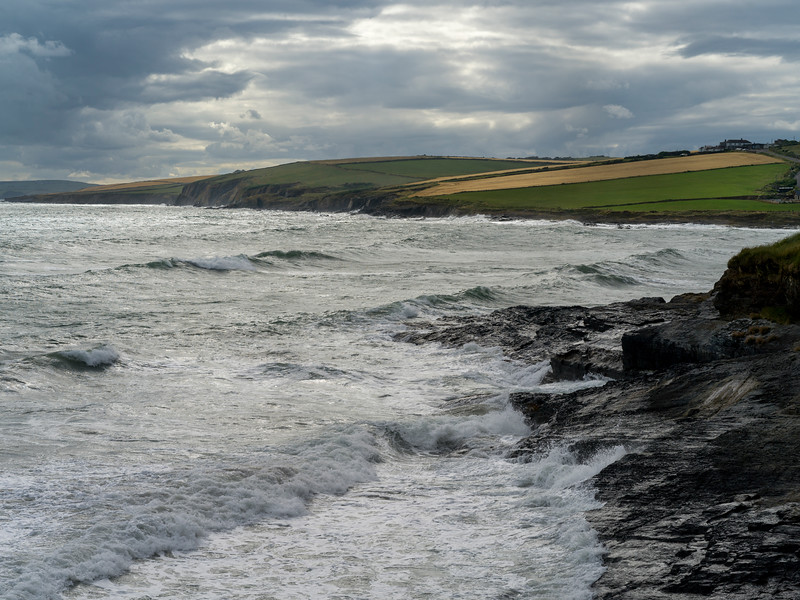 Scenic view of coastline, Old Head of Kinsale, Kinsale, County Cork, Ireland