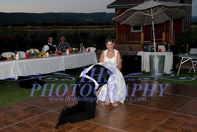 Fisher Wedding - garter and bouquet