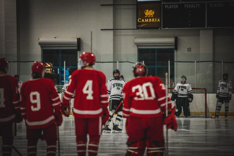 Holy Family Boys Varsity Hockey vs. Benilde-St. Margaret's, 12/26/19: Noel Rahn '21 (8)