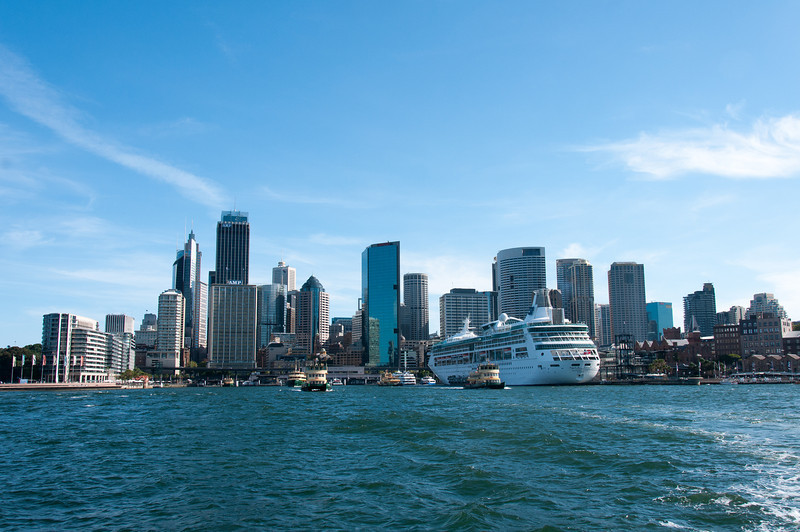 Sydney Harbour and skyline in Sydney, Australia