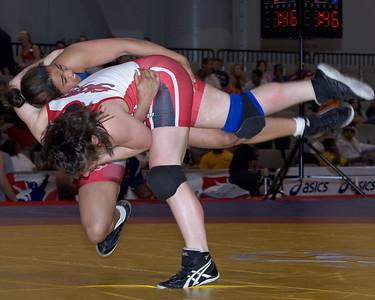 Women's Freestyle Championships 67 Kg: Stefanie Shaw (New York Athletic Cl) def  Sara Hillard (OCU STARS) by Dec 2-0,6-0