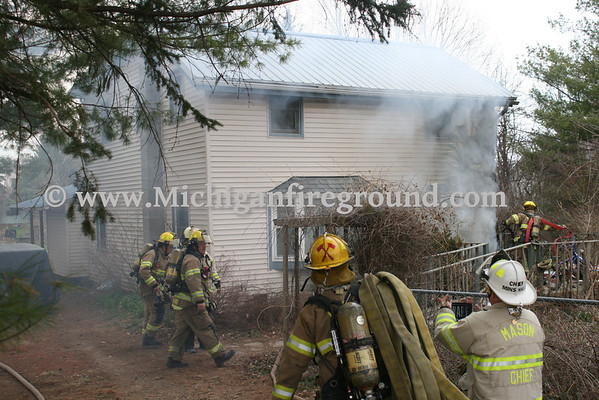 4/24/14 - Mason structure fire, 5256 Curtice Rd