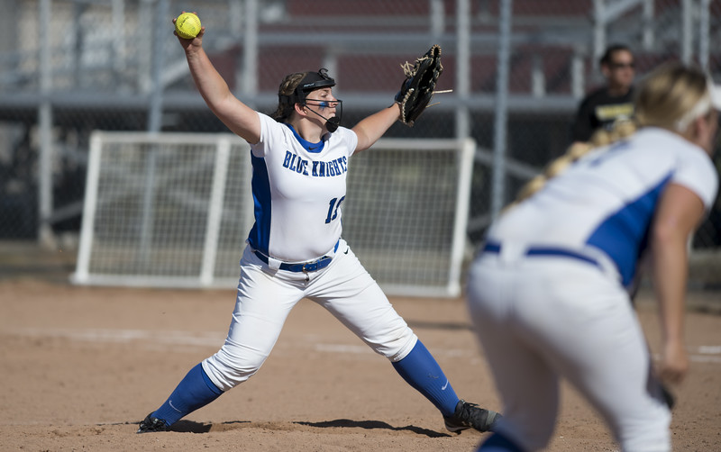 06/03/19  Wesley Bunnell | Staff  Southington softball defeated Trumbull in a semifinal Class LL game at DeLuca Field in Stratford on Monday afternoon. Julia Panarella (18).