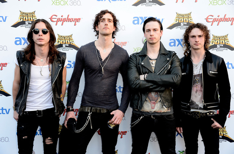 . Heaven\'s Basement arrive at the 5th Annual Revolver Golden Gods Award Show  at Club Nokia on May 2, 2013 in Los Angeles, California.  (Photo by Frazer Harrison/Getty Images)