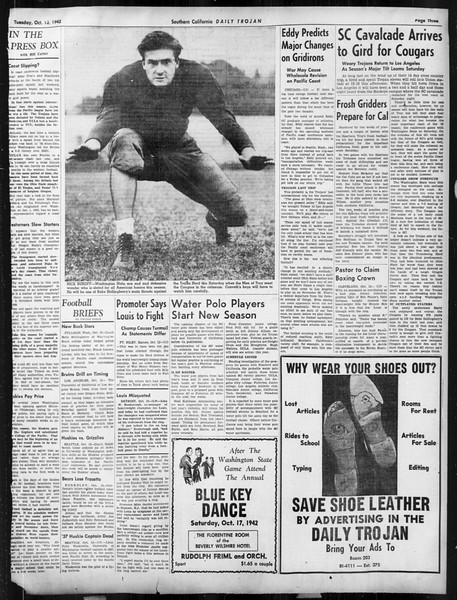 Daily Trojan, Vol. 34, No. 18, October 13, 1942