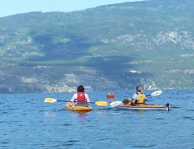 Paddling in Lake Okanagan
