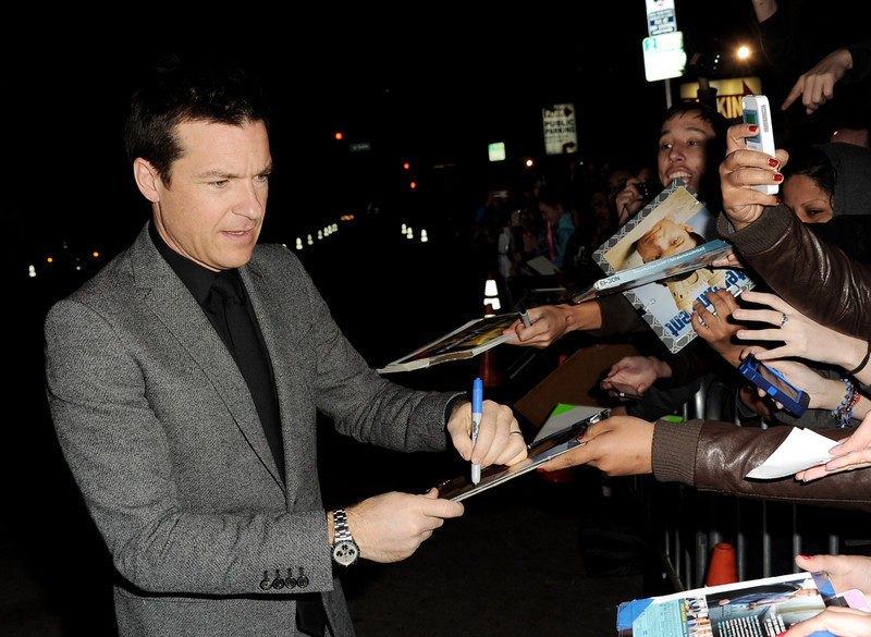 ". Actor Jason Bateman arrives at the premiere of Universal Pictures\' ""Identity Theft\"" at the Village Theatre on February 4, 2013 in Los Angeles, California.  (Photo by Kevin Winter/Getty Images)"