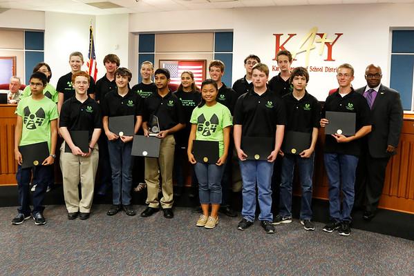 KISD Robotics Student Recognitions 8-27-13