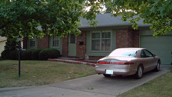 July 25, 2003:  The front yard of our new home .  .  .