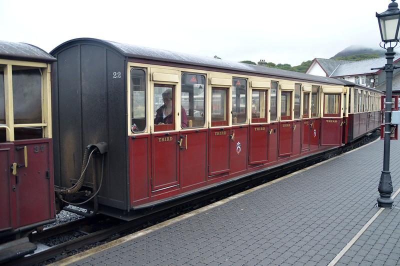 Coach 22 at Porthmadog on The Ffestiniog Railway  22/08/15.