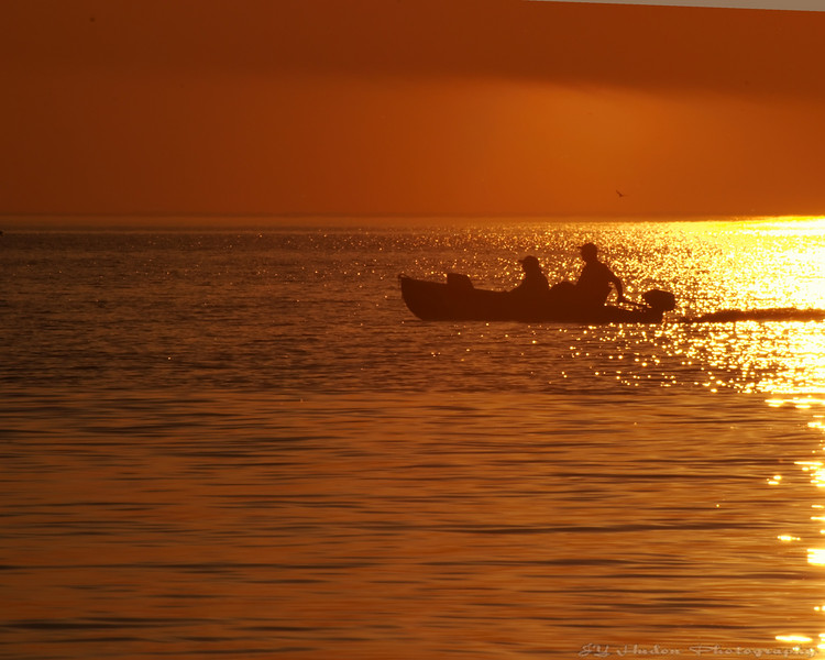 Back from fishing on Lake Huron