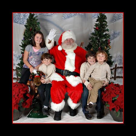 Toner family with santa
