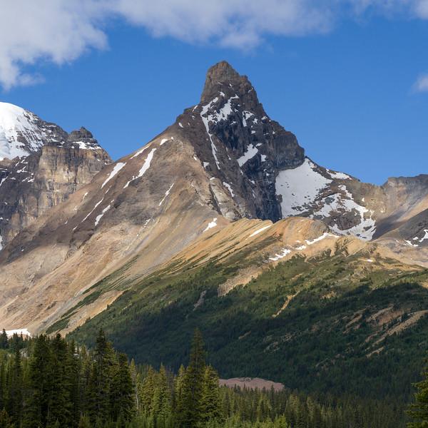 Mountain peak, Icefields Parkway, Jasper, Alberta, Canada