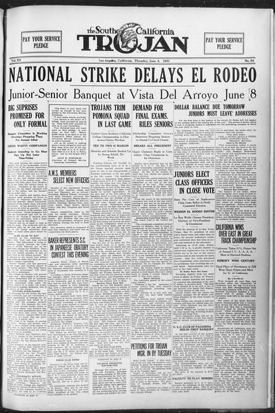 The Southern California Trojan, Vol. 12, No. 84, June 02, 1921