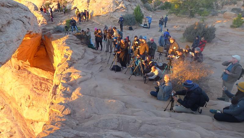 Mesa Arch photo line