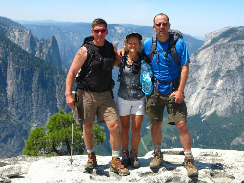 Tom, Karen and Jim at North Dome