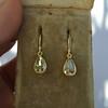 .95ctw Pear Shape Rose Cut Diamond Drop Earrings 5