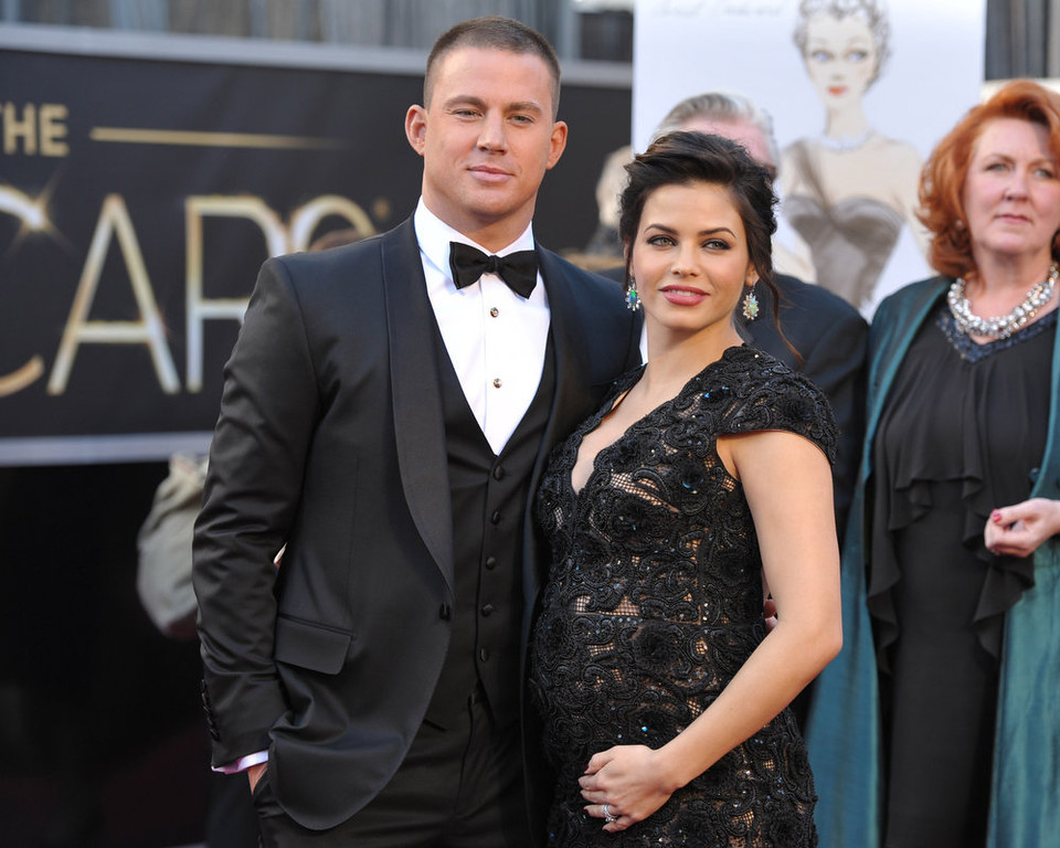 . Actors Channing Tatum, left, and Jenna Dewan-Tatum arrive at the 85th Academy Awards at the Dolby Theatre on Sunday Feb. 24, 2013, in Los Angeles. (Photo by John Shearer/Invision/AP)