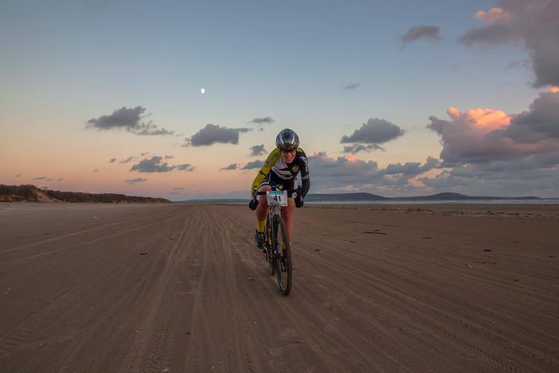 Moonlit beach sprint...