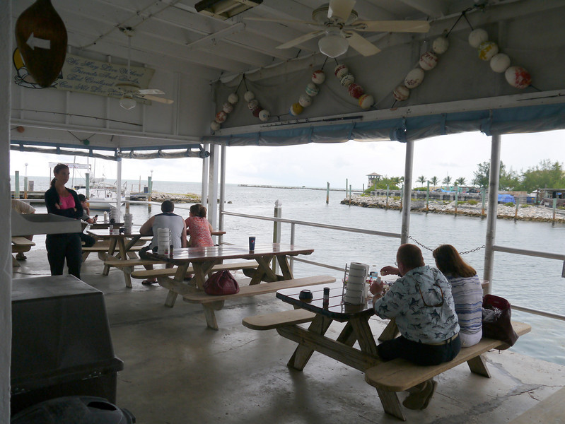 Lunch at Keys Fisheries in Marathon, Florida - home of the famous Lobster Reuben