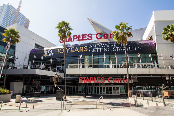 L.A. LIVE 10 Year Anniversary Banner