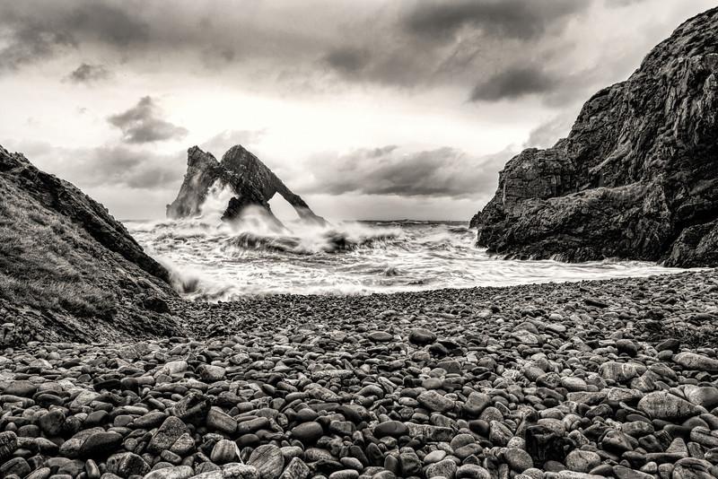 Bow Fiddle Rock, Portknockie, Moray, Scotland.