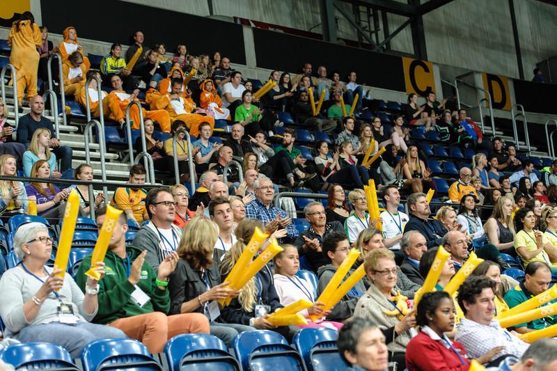 Happy spectators