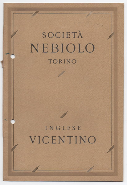 Vicentino script type, advertising brochure. 1920s.